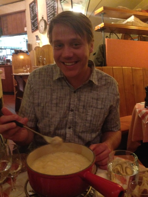 Fondue time :-) so much cheese!!!