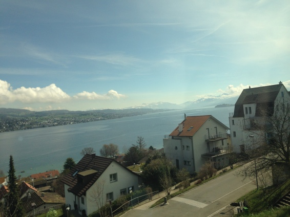 On the train from Zurich to Lucerne