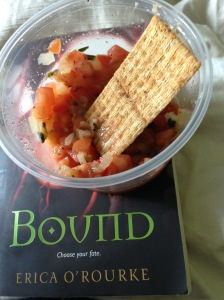 Best combo - double triscuit(!) with bruschetta and Bound :D.