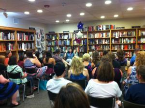 Erica's event - and a good crowd! Photo stolen from The Bookstall's twitter.