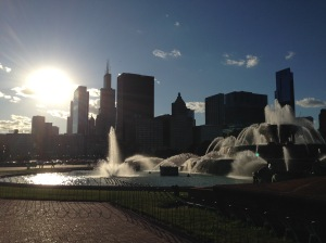 Last one I swear! Buckingham Fountain with the city behind it.