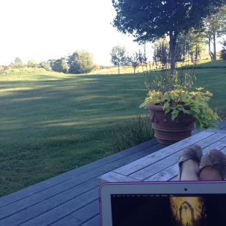Writing in idyllic New England <3