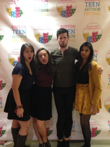 Being silly at BTAF with the lovely Adam Silvera